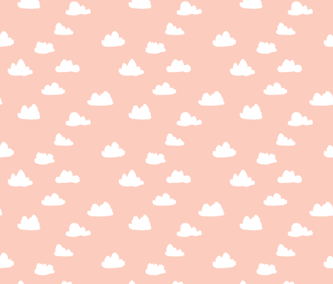 pastel pink clouds girl nursery baby quilt southwest fabric by andrea_lauren on Spoonflower - custom fabric