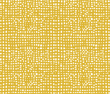 mustard stripes dots grid lines texture linen look fabric by andrea_lauren on Spoonflower - custom fabric