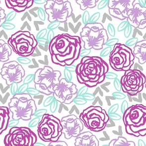 roses // purples horses coordinate girly pastel mint and purple lavender flowers floral spring flowers
