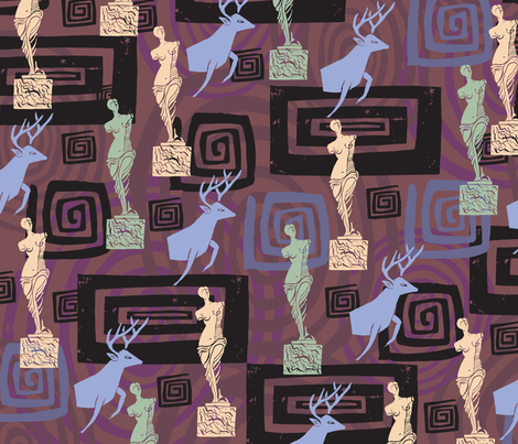 venusdeermilo_purple fabric by zoomorphik on Spoonflower - custom fabric