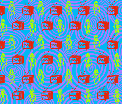 jellyvision_blue fabric by zoomorphik on Spoonflower - custom fabric