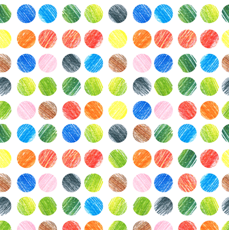 Colorful pencils  fabric by dariara on Spoonflower - custom fabric