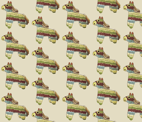 Scared Pinatas fabric by angiehiller on Spoonflower - custom fabric