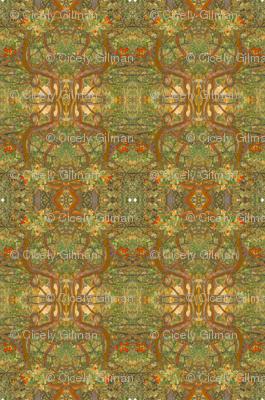 Art Nouveau Bushes in Brown
