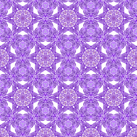 Purple Stained Glass fabric by themadcraftduckie on Spoonflower - custom fabric