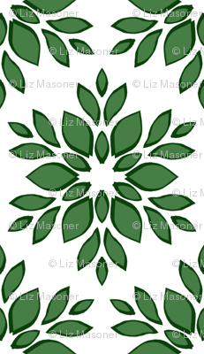 Stylized Green Floral