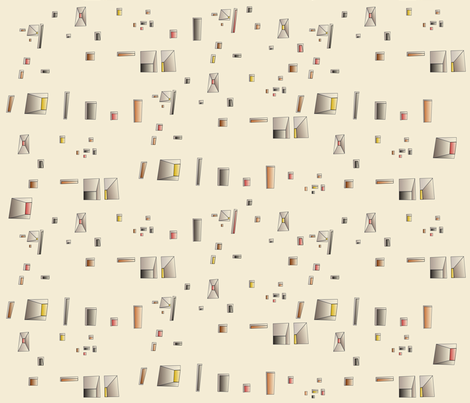 Corbusiers_Windows fabric by contented_studios on Spoonflower - custom fabric