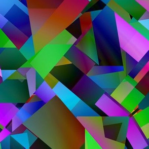 Vibrant Triangles and Squares Abstract
