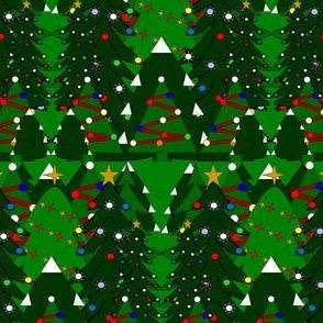 Christmas Trees Fabric #1