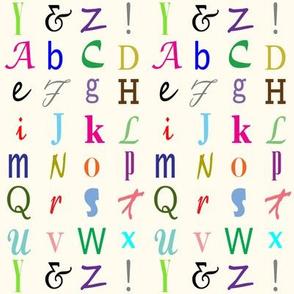 Danita's ABCs on Pale Yellow