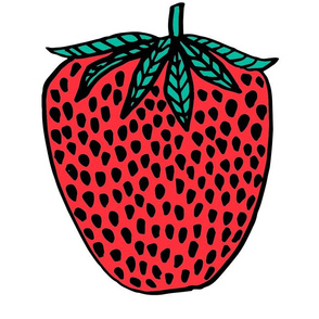 strawberry // cut and sew plush pillow strawberry fruit summer tropical design