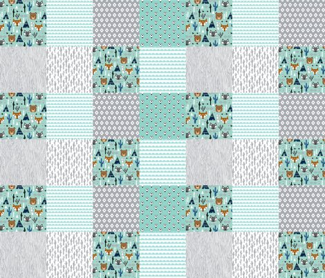 Cheater Quilt Mint And Grey Southwest Baby Kids Nursery