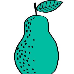 pear // cut and sew plush pillow fruit nursery kids decor