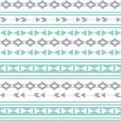 stripe // stripes mint and grey southwest triangles aztec tribal kids nursery