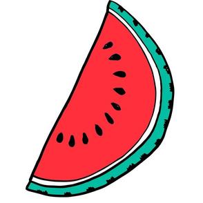 watermelon //  pillow plush cut  and sew fruit summer tropical kids fun