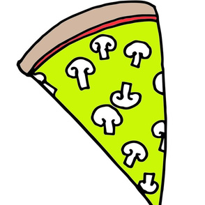 pizza // plushie pizza veggie pizza vegetarian plush cut and sew food novelty cute pizza print