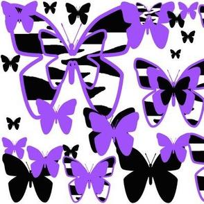 Purple Zebra Butterfly Animal Print