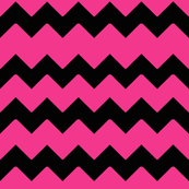 Hot Pink Black Chevron Zig Zag Pattern