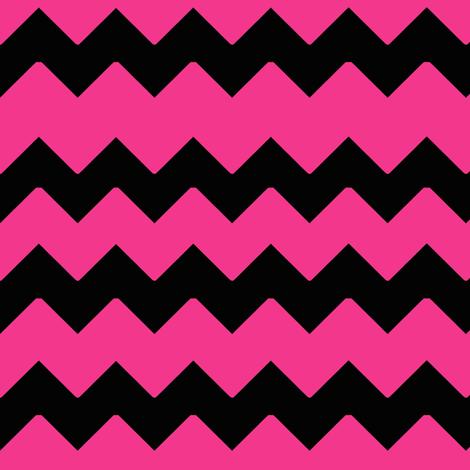 Hot Pink Black Chevron Zig Zag Pattern Wallpaper