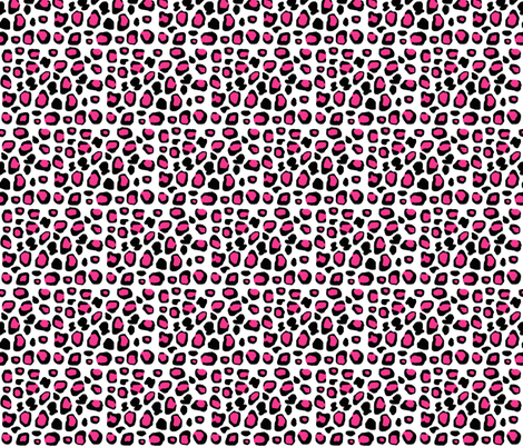 Hot Pink Leopard Animal Print  fabric by decamp_studios on Spoonflower - custom fabric