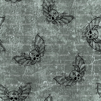 skulls #3 on textured background