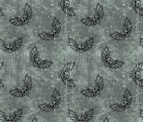 skulls #3 on textured background fabric by susiprint on Spoonflower - custom fabric