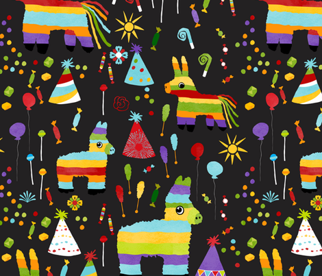 Pinata Party  fabric by onelittleprintshop on Spoonflower - custom fabric