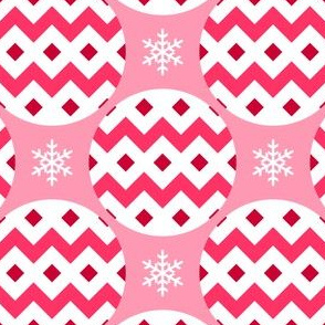 R4X bauble : poinsettia red-pink
