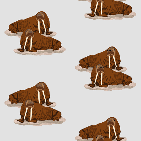 Pacific Walrus fabric by arts_and_herbs on Spoonflower - custom fabric