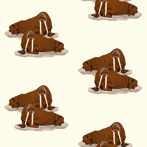 Pacific Walrus 2 fabric by arts_and_herbs on Spoonflower - custom fabric