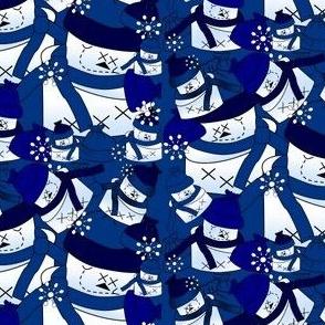 Snowmen Winter Snowflakes Fabric #2