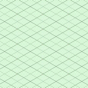 isometric graph : emerald green