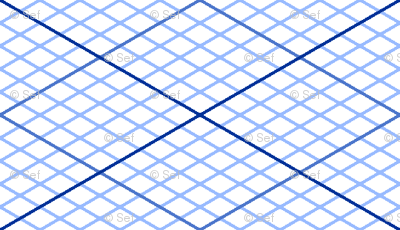 isometric graph : sapphire blue