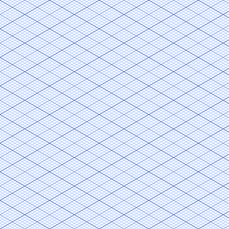 isometric graph : sapphire blue fabric by sef on Spoonflower - custom fabric