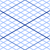 isometric graph : sapphire blue