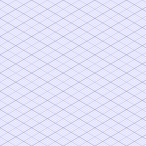 isometric graph : lavender blue fabric by sef on Spoonflower - custom fabric