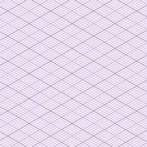 isometric graph : violet mauve