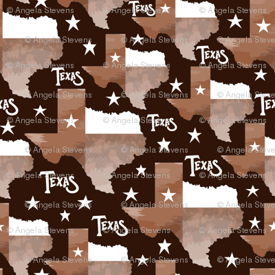 Texas Map Brown