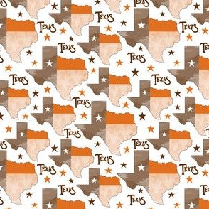 Texas Map Orange