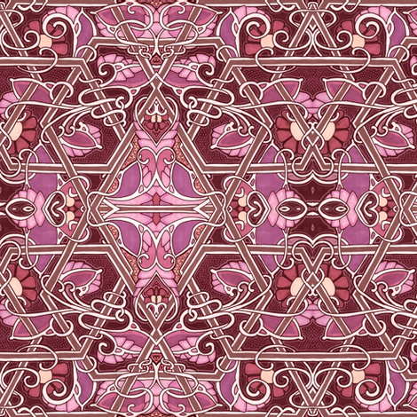 Spilled Wine Twist fabric by edsel2084 on Spoonflower - custom fabric