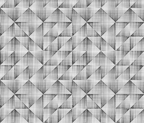 Triangles Pencil Scratched Geometric Black&White Grey fabric by caja_design on Spoonflower - custom fabric