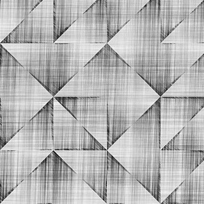 Triangles Pencil Scratched Geometric Black&White Grey