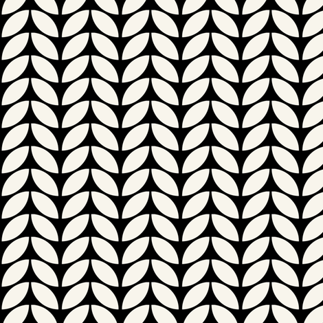 Knit two, in black + off-white, by Su_G fabric by su_g on Spoonflower - custom fabric