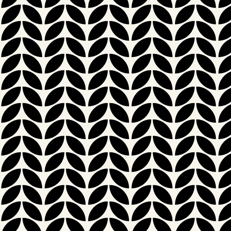 Knit one, in black + off-white by Su_G fabric by su_g on Spoonflower - custom fabric
