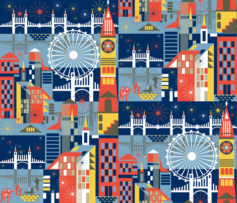 Midnight City fabric by paula's_designs on Spoonflower - custom fabric