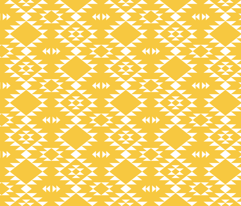 Navajo - Yellow fabric by kimsa on Spoonflower - custom fabric