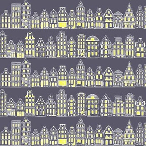Amsterdam Row Houses (Dark Grey)