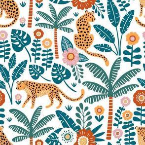 jungle leopard - white