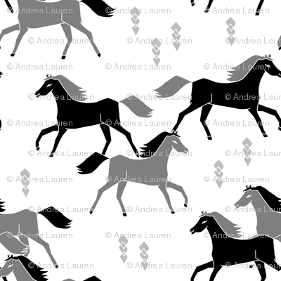 horses // black and grey horses running horses western