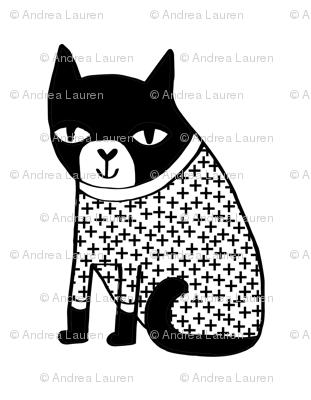 cat plush plushie black and white sweater // cut and sew plush plushie cat pillow pet pillow sweater cat